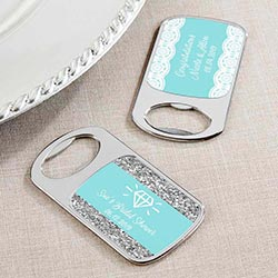 Personalized Silver Bottle Opener - Something Blue