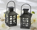 Luminous Black Mini-Lantern Tea Light Holder