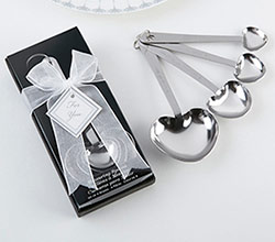 """Love Beyond Measure""  Heart Shaped Measuring Spoons in Gift Box"