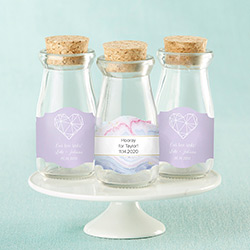 Vintage Milk Bottle Favor Jar - Elements (Set of 12) (Available Personalized)