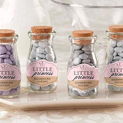 Personalized Vintage Milk Bottle Favor Jar - Little Princess (Set of 12)