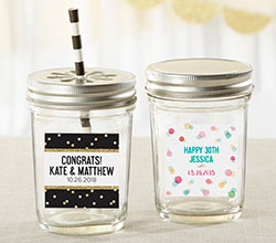 Personalized Mason Jar - Party Time (Set of 12)