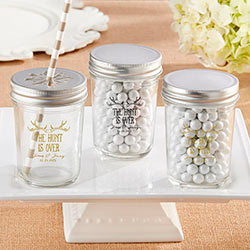 Personalized Printed Mason Jar - The Hunt Is Over (Set of 12)