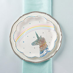 Enchanted Unicorn 9 in. Premium Paper Plates (Set of 8)