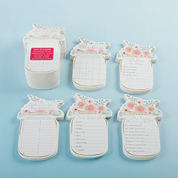 Floral Mason Jar Bridal Shower Games 5-game Card Set (30 cards each, 150 cards)
