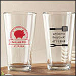 Personalized Pint Glass 16 oz. -BBQ