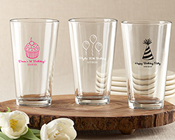 Personalized Pint Glass 16 oz. (Birthday Designs)
