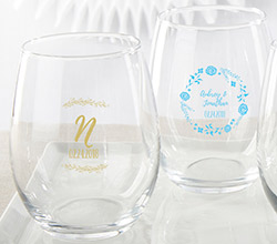 Personalized 15 oz. Stemless Wine Glass - Ethereal