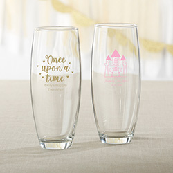 Personalized 9 oz. Stemless Champagne Glass - Princess Party