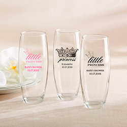 Personalized 9 oz. Stemless Champagne Glass - Little Princess