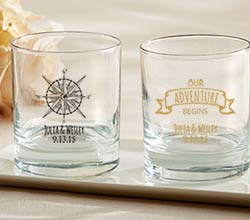 Personalized 9 oz. Rocks Glasses - Travel & Adventure