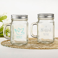 Personalized 12 oz. Mason Jar Mug - Religious