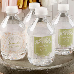 Personalized Water Bottle Labels - Kates Rustic Baby Shower Collection (Set of 24)