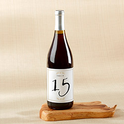 Wine Label Table Numbers - Classic Wedding (1-20)
