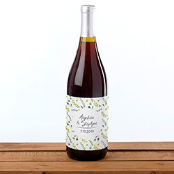 Personalized Wine Bottle Labels - Botanical Garden
